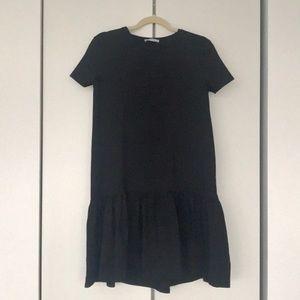 Easy knit drop waist dress Zara